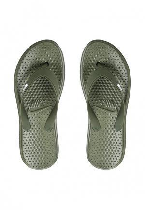 Сланцы Nike. Цвет: хаки