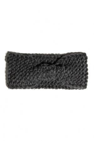 Вязаная повязка Exclaim. Цвет: серый