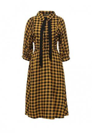 Платье Vika Smolyanitskaya. Цвет: желтый