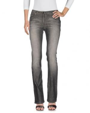 Джинсовые брюки HUSKY. Цвет: серый