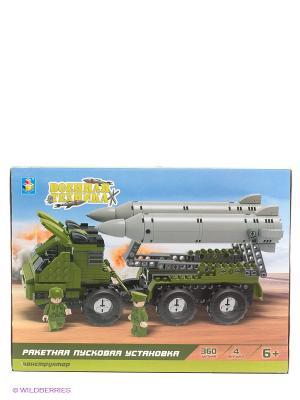 Конструктор Военная техника - Ракетная пусковая установка 1Toy. Цвет: зеленый, серый, черный