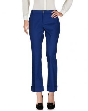 Повседневные брюки GUCCI. Цвет: синий