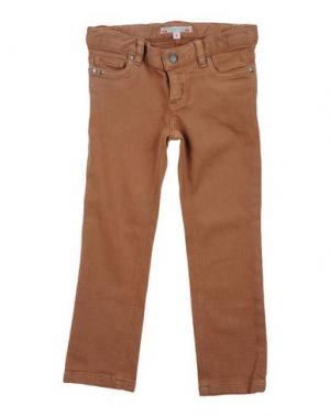 Джинсовые брюки BONPOINT. Цвет: коричневый