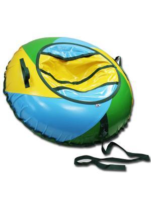 Тюбинг ТЕНТ-СПИРАЛЬ Пляж, 100 см Belon. Цвет: зеленый, голубой, желтый