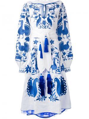 Платье Fairytale Yuliya Magdych. Цвет: синий
