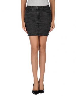 Джинсовая юбка AMERICAN RETRO. Цвет: черный