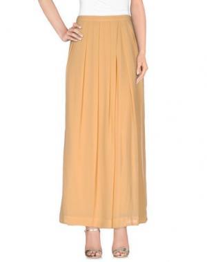 Длинная юбка SO NICE. Цвет: охра