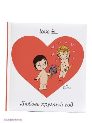 Love is... Любовь круглый год Эксмо. Цвет: белый, красный