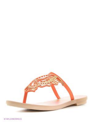 Пантолеты Grendha. Цвет: оранжевый