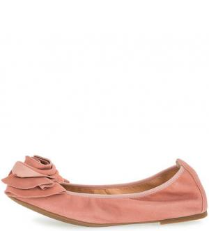 Розовые замшевые балетки UNISA. Цвет: розовый