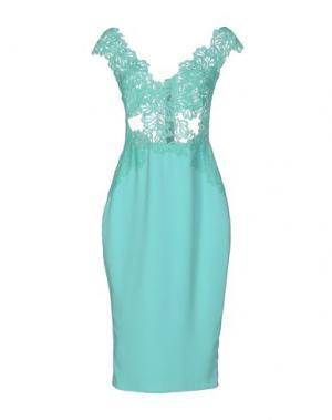 Платье до колена RHEA COSTA. Цвет: бирюзовый