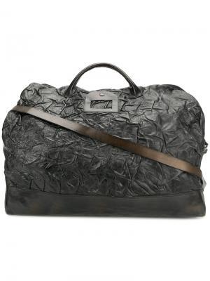 Фактурная дорожная сумка-тоут Numero 10. Цвет: чёрный