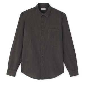 Рубашка джинсовая прямого покроя La Redoute Collections. Цвет: серый