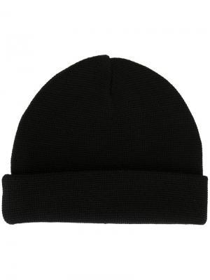 Вязаная шапка-бини Études. Цвет: чёрный