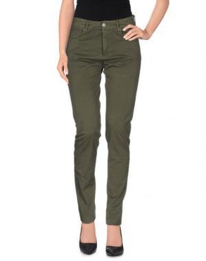 Повседневные брюки FAIRLY. Цвет: зеленый-милитари