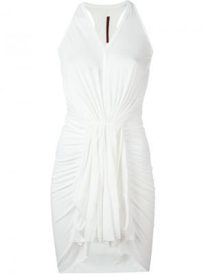 Плиссированное платье Rick Owens Lilies. Цвет: белый