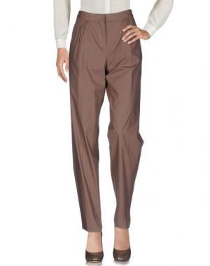 Повседневные брюки AQUILANO-RIMONDI. Цвет: светло-коричневый