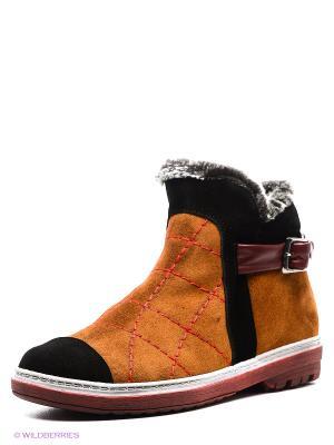 Ботинки Grand Gudini. Цвет: рыжий, черный