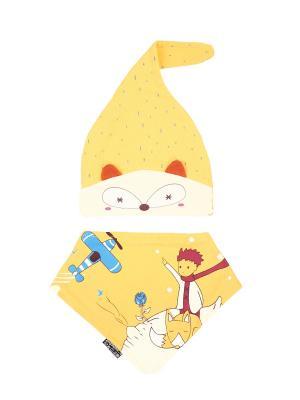 Комплект детский-шапка/косынка Оланж Ассорти. Цвет: желтый