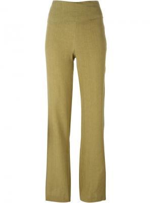 Расклешенные брюки Erika Cavallini. Цвет: коричневый