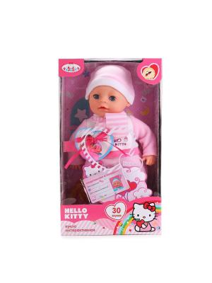 Пупс  Hello Kitty 30см, озвученный с мягким телом. Карапуз. Цвет: розовый