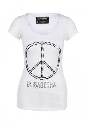 Футболка Elisabetha Collection. Цвет: белый