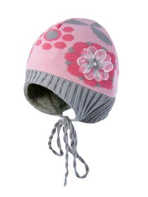 Шапка Kolad. Цвет: розовый, серый