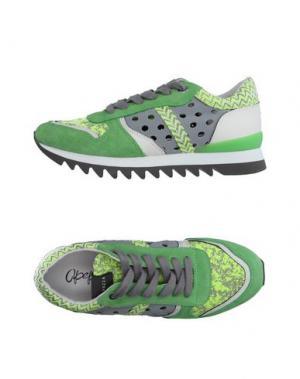 Низкие кеды и кроссовки APEPAZZA. Цвет: зеленый