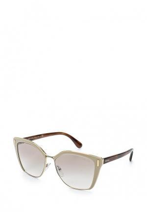 Очки солнцезащитные Prada. Цвет: бежевый