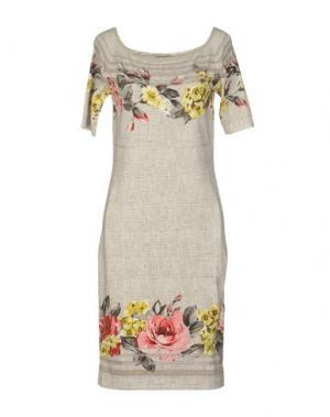 Короткое платье ANGELO MARANI. Цвет: бежевый