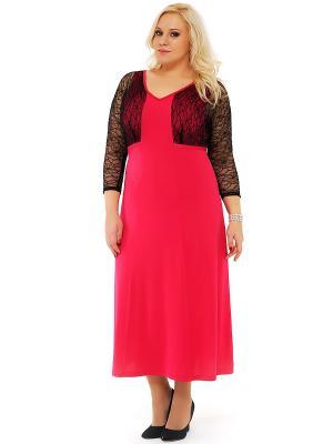 Платье SVESTA. Цвет: фуксия, черный