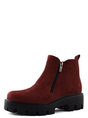 Ботинки BERG. Цвет: терракотовый, красный
