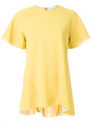 Футболка Breakers свободного кроя Rebecca Vallance. Цвет: жёлтый и оранжевый