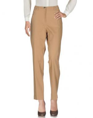 Повседневные брюки SEVERI DARLING. Цвет: верблюжий