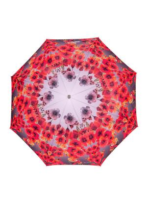Зонт Slava Zaitsev. Цвет: серый, коралловый