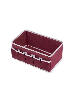 Коробочка для косметики и мелочей Red Rose Homsu. Цвет: бордовый