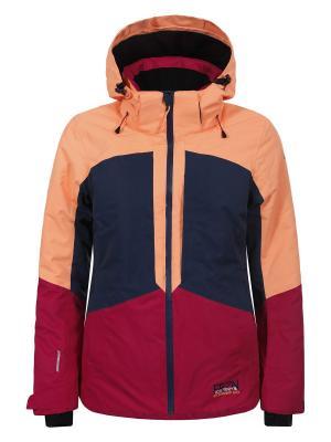 Куртка Icepeak. Цвет: темно-синий, малиновый, светло-оранжевый