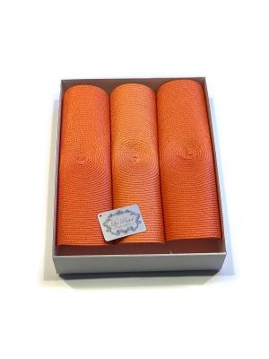 Набор подставок под горячее, 3 предмета, диаметр 38 см. La Pastel. Цвет: оранжевый