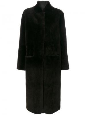 Длинное пальто Inès & Maréchal. Цвет: зелёный