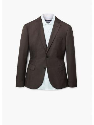 Пиджак MANGO MAN. Цвет: темно-коричневый