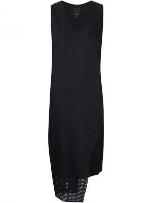 Перфорированное платье Ji Oh. Цвет: чёрный