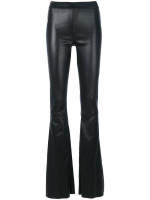 Расклешенные брюки Drome. Цвет: чёрный