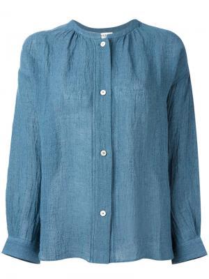 Жатая рубашка Masscob. Цвет: синий
