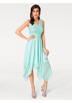 Коктейльное платье ASHLEY BROOKE by Heine. Цвет: нежно-зеленый