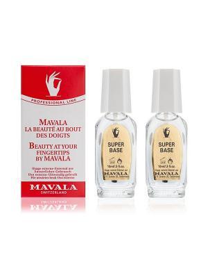Лак для ногтей профессиональный Супер основа 2x10 ml Mavala. Цвет: прозрачный