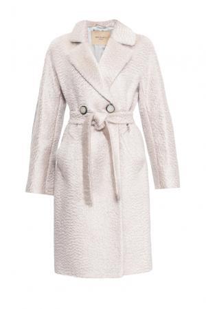 Пальто с поясом 152588 Mia Blanca. Цвет: бежевый