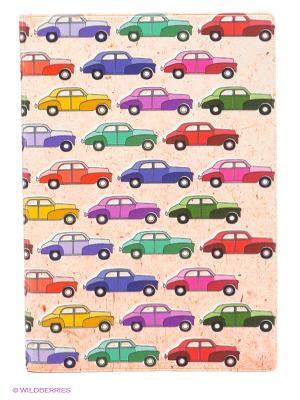 Обложка для паспорта Цветные машинки Mitya Veselkov. Цвет: бледно-розовый