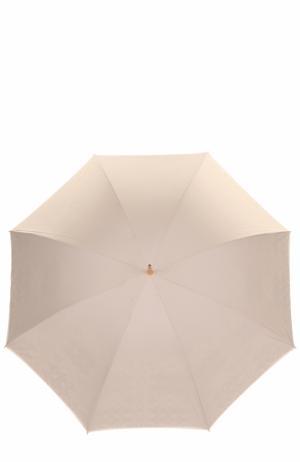 Зонт-трость с принтом Pasotti Ombrelli. Цвет: светло-бежевый