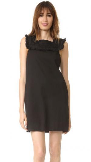 Платье Sun Dream с бахромой Madewell. Цвет: классический черный