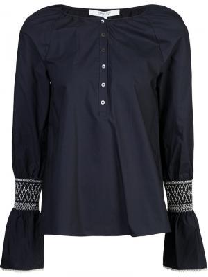 Блуза с расклешенными рукавами вышивкой Derek Lam 10 Crosby. Цвет: синий
